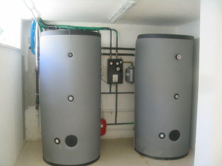 Come funziona il riscaldamento solare risparmiare for Serbatoio di acqua calda in rame