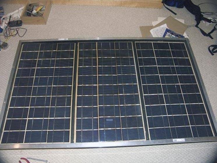 Un pannello solare autoprodotto