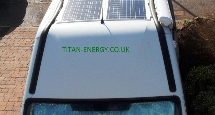 Pannelli solari su camper