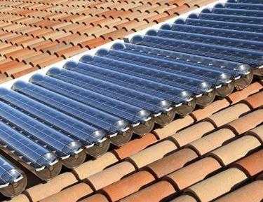 I pannelli solari sottovuoto hanno un rendimento pi� alto rispetto ai collettori piani