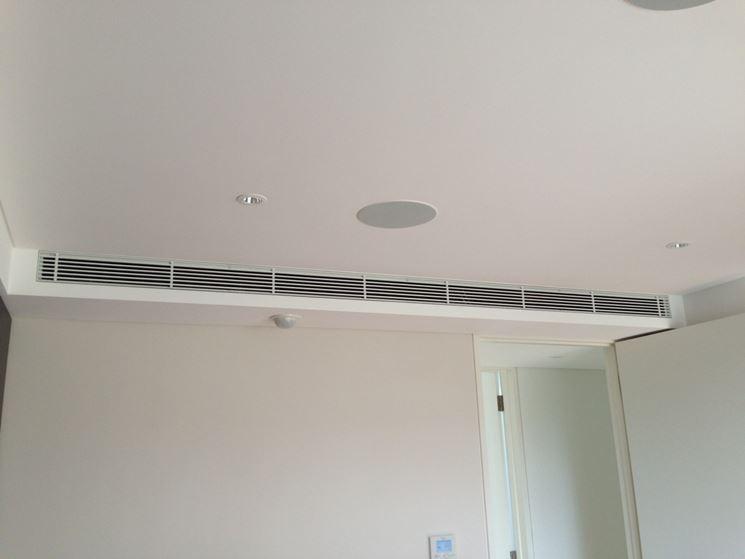 Impianto di climatizzazione canalizzato climatizzatori for Impianto condizionamento canalizzato