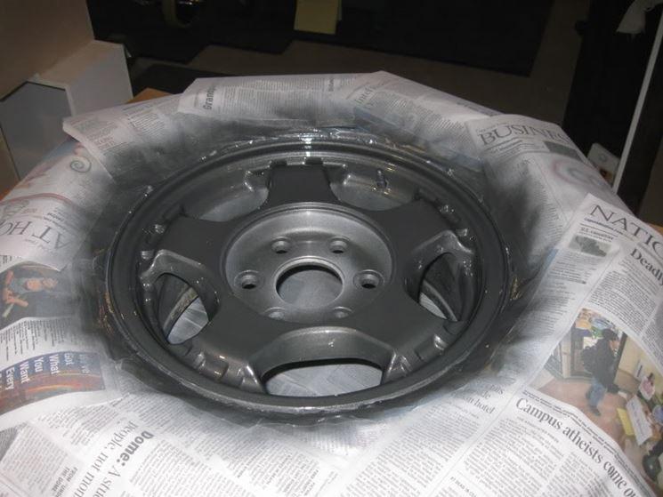 verniciatura ruota in alluminio