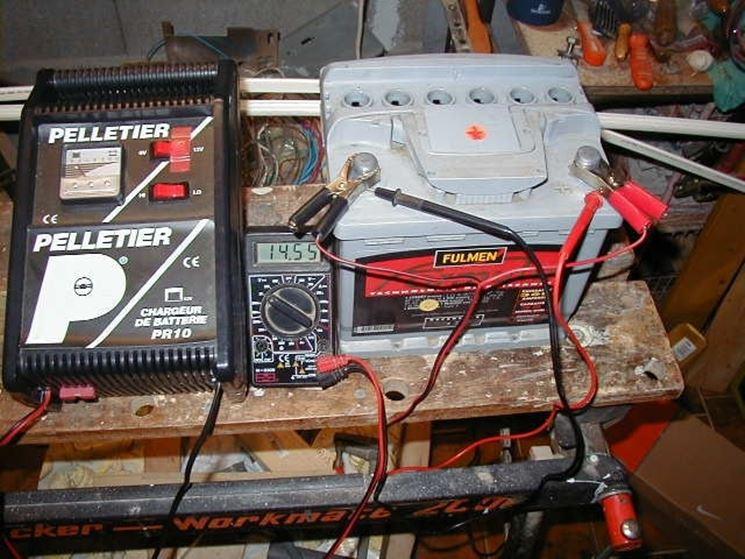 ricaricare una batteria in un locale