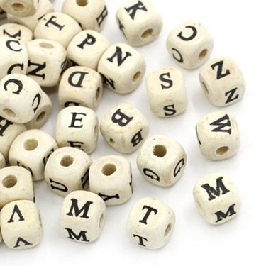Perle lettere dell'alfabeto