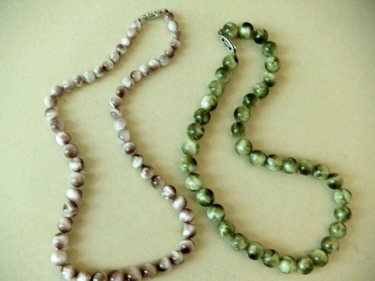 Collane pietre dure gioie e gioielli realizzare for Orecchini con pietre dure fai da te