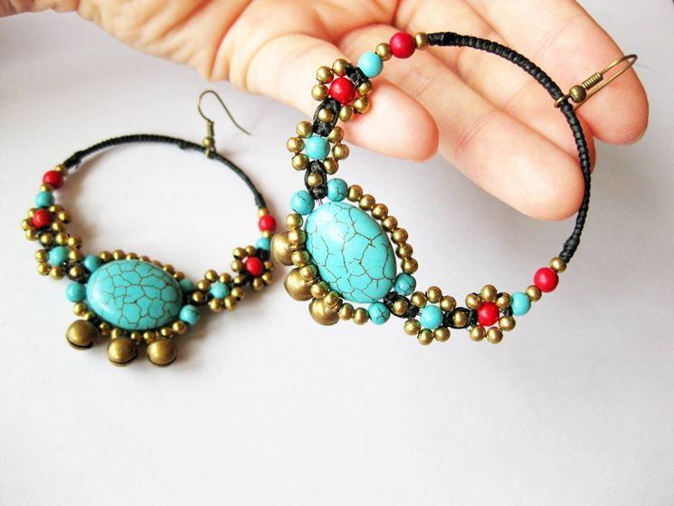 Orecchini fatti in casa gioie e gioielli orecchini fai for Orecchini con pietre dure fai da te