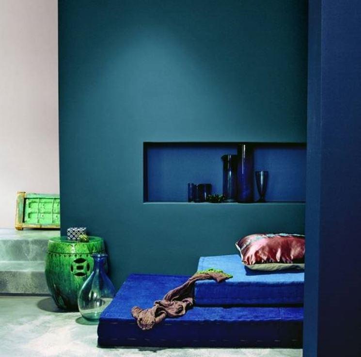 L'atmosfera di una casa in blu