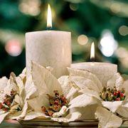 esempio di candela creata per il Natale