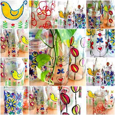 Eseempi di vetro decorato