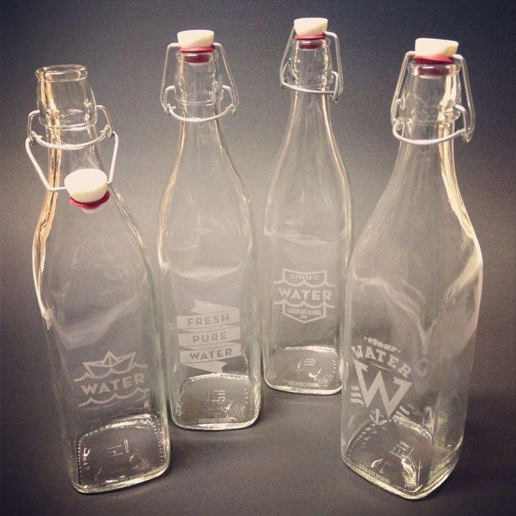 Esempio di incisione su bottiglia