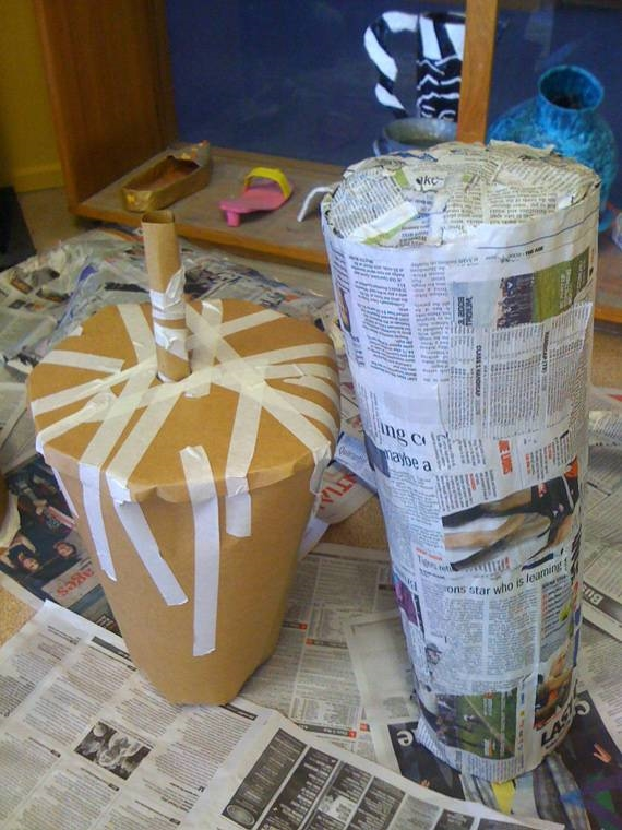 how to make a giant paper mache teapot