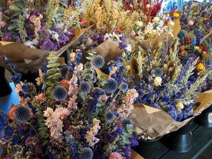 Idee con i fiori secchi: quadro