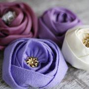 fiori di stoffa fai da te