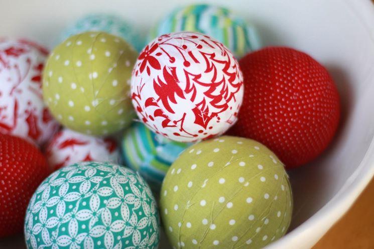 palline ricoperte di stoffa