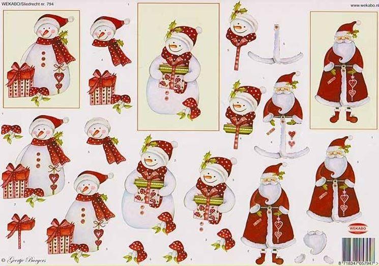 Decorazioni natalizie fai da te il decoupage crea le - Addobbi natalizi da giardino ...