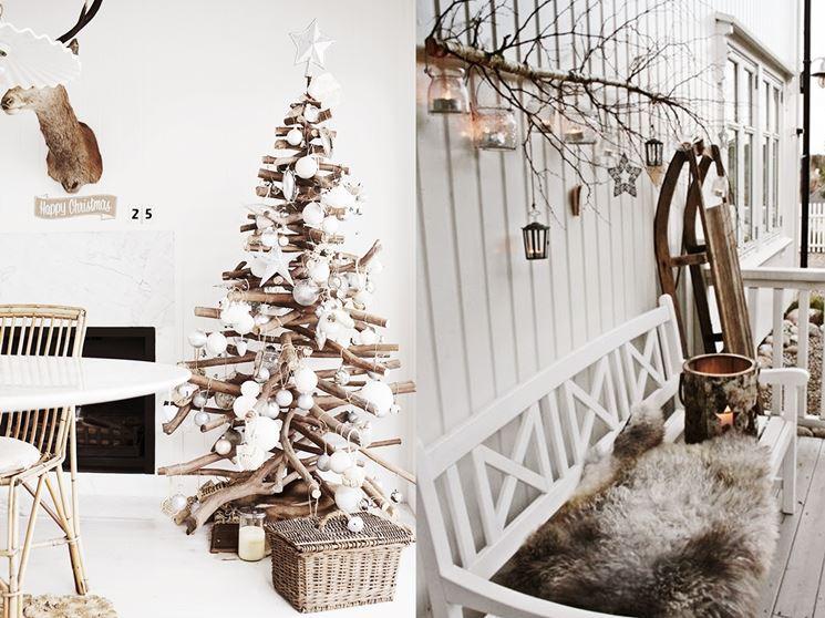 Pochi elementi sul muro, con le giuste luci, possono dare la stessa sensazione di calore di un albero vero e proprio