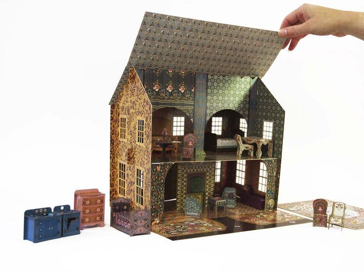 casa bambole di carta arredamneento