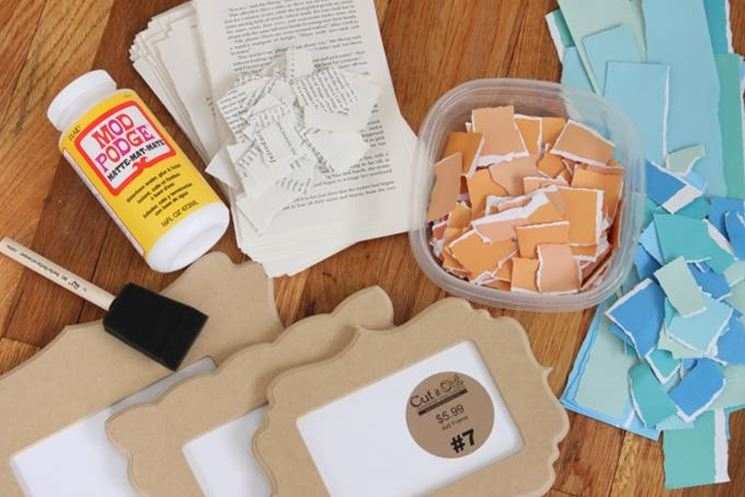 Cornici legno grezzo da decorare. trendy offerta kit oggetti in