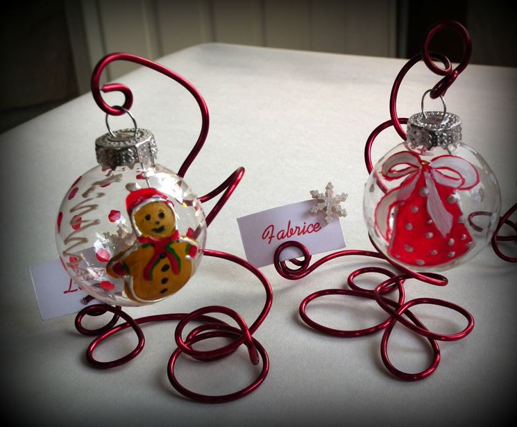 Segnaposti natalizi fai da te il decoupage realizzare for Addobbi natalizi fai da te 2016