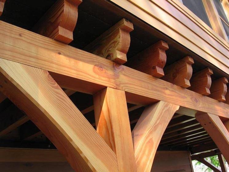 Travature in legno di abete