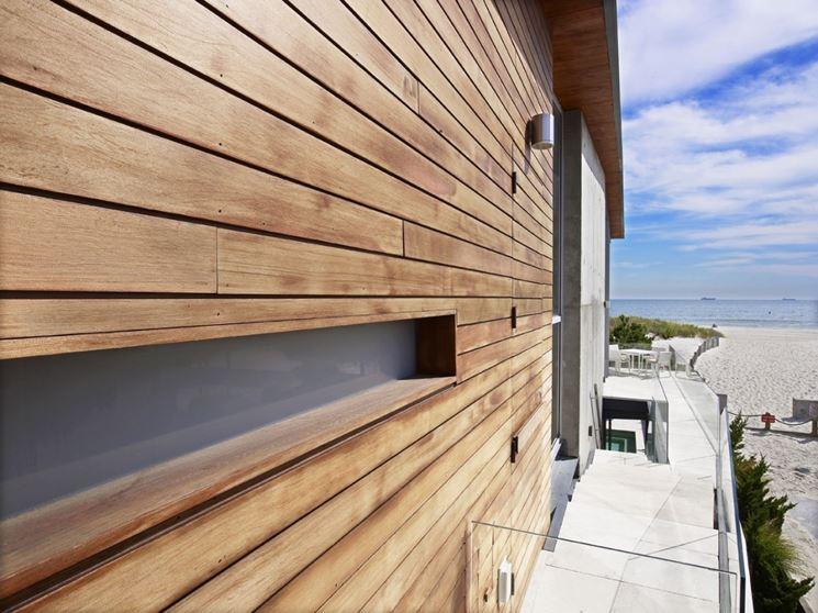 Dettaglio di un muro di legno