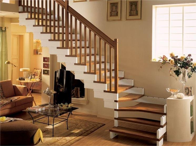 scale legno scuro