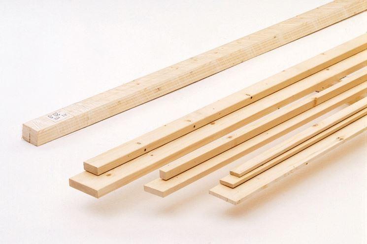tipologie di listelli in legno: listelli in legno di abete