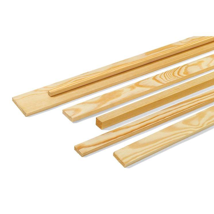 Tipologie di listelli in legno - Lavorare il Legno - Modelli listelli in legno