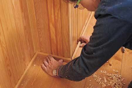 Utilizzo delle perline in legno lavorare il legno - Posa parquet fai da te ...