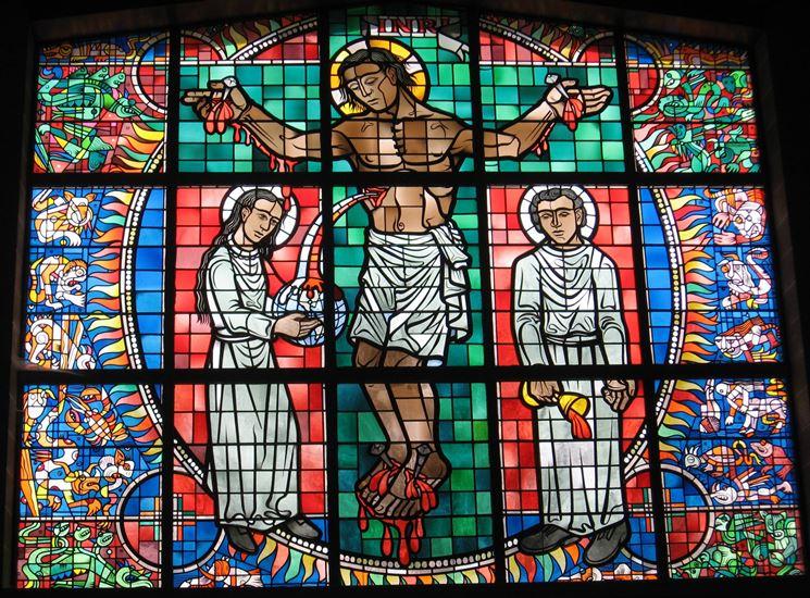 Vetrata artistica a tema religioso