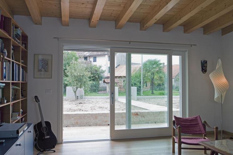 Installare una vetrata scorrevole lavorare il vetro - Porta finestra scorrevole esterna ...