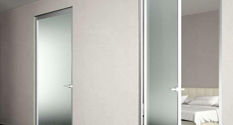 Porte in vetro opaco per interni