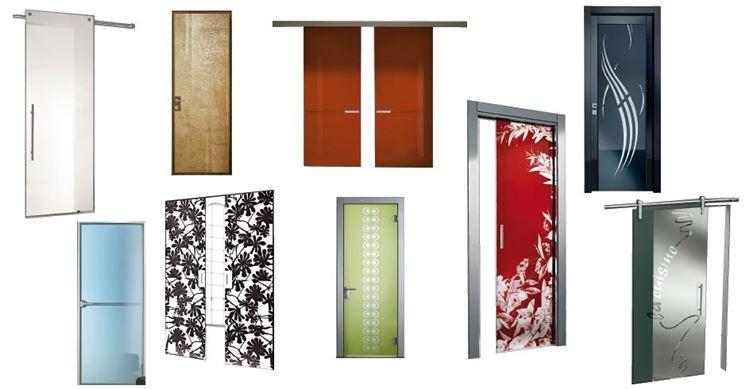 Esempi di porte in vetro per interni
