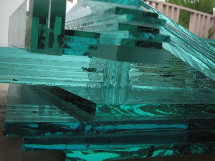 Lastre di vetro trasparente