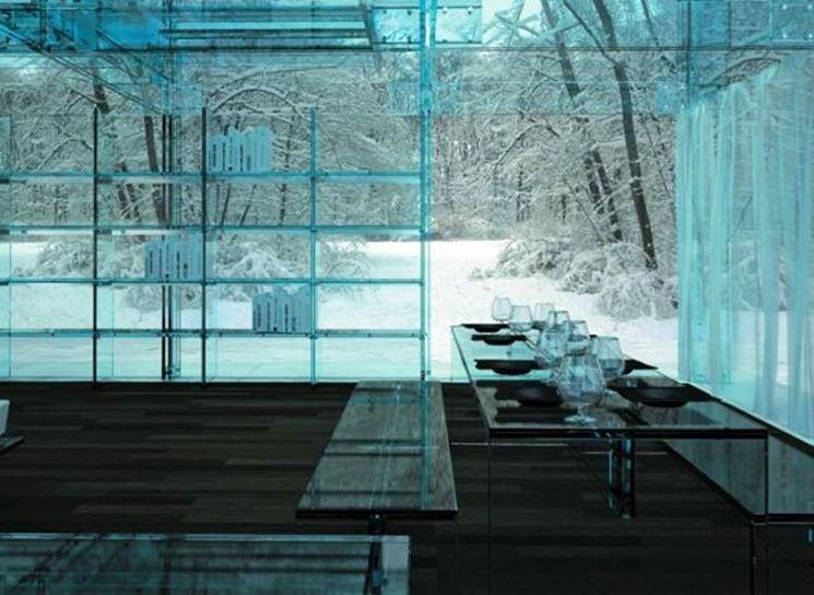 Casa con pareti in vetro