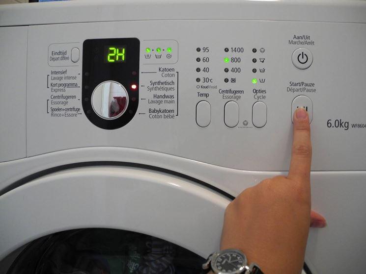 impostazione lavatrice