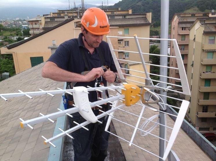 Installazione di un'antenna televisiva