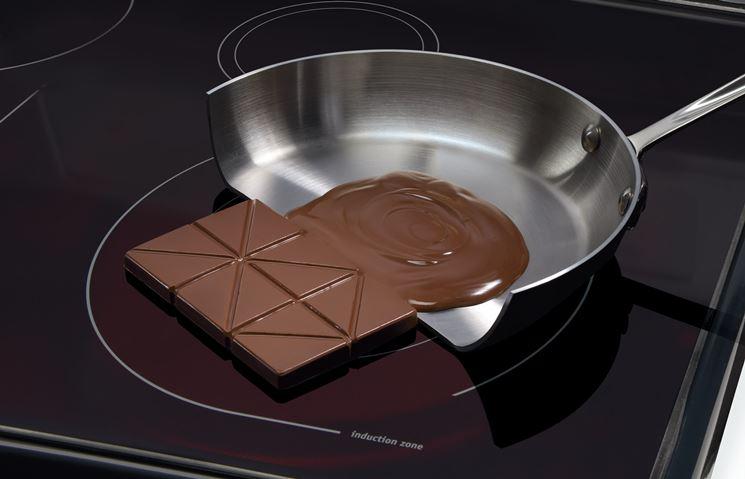 Cottura induzione padella cioccolata