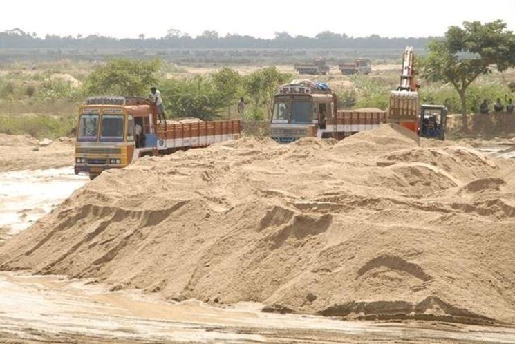 Giacimento di sabbia di cava