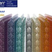 Esempio di lastra in policarbonato colorato