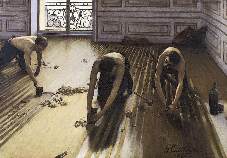 Lavorazione del parquet in antichità