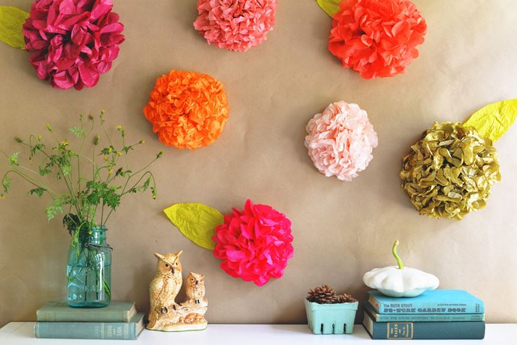 fiori con la carta