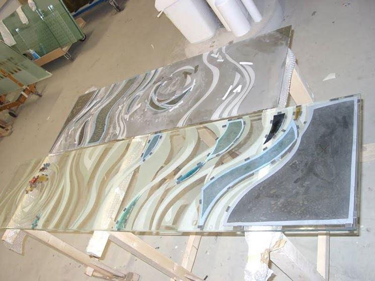 Lastra di vetro fresca di sabbiatura