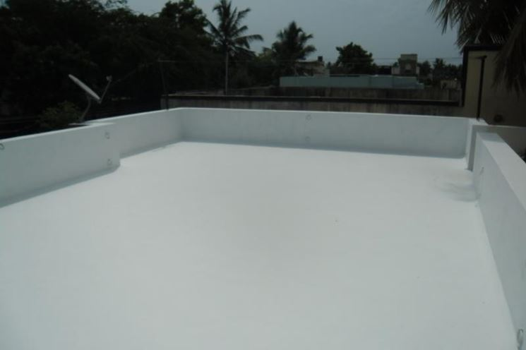 White Paint On Terrace To Reduce Heat
