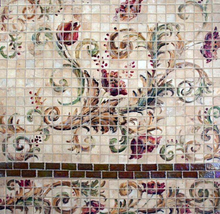 piastrelle a mosaico colorate