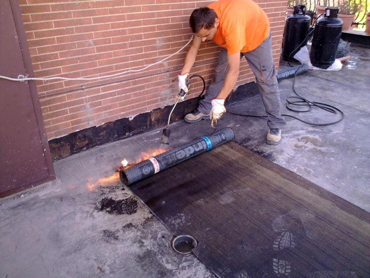 Impermeabilizzazione di un terrazzo