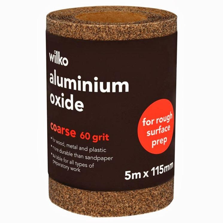 Carta abrasiva per alluminio