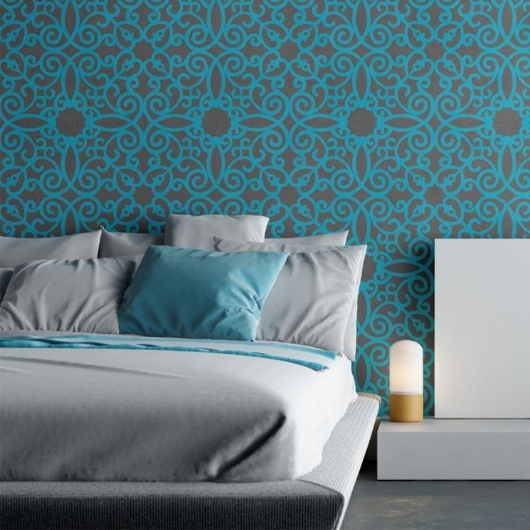 Stencil per decorare le pareti   tecniche di fai da te   come ...