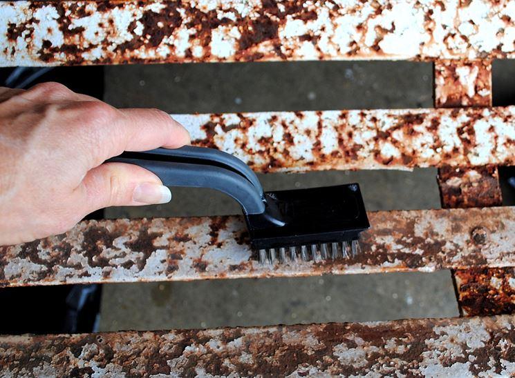 spazzola metallica per ferro