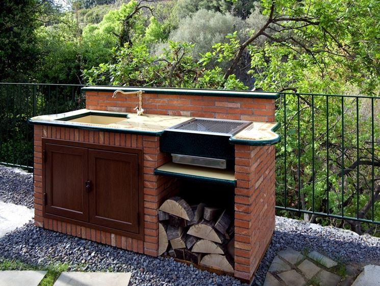 Barbecue arredamento per giardino il barbecue - Cucina in muratura per esterni con barbecue ...